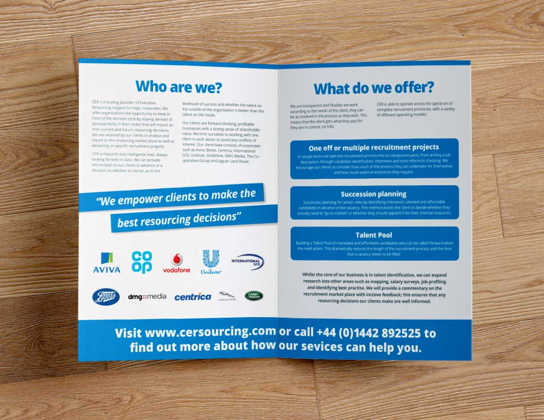 CER Sourcing Mini Brochure Inside