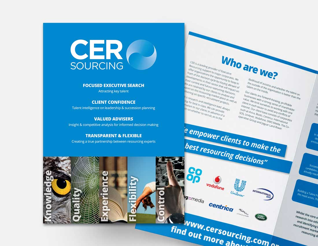 CER Sourcing Mini Brochure