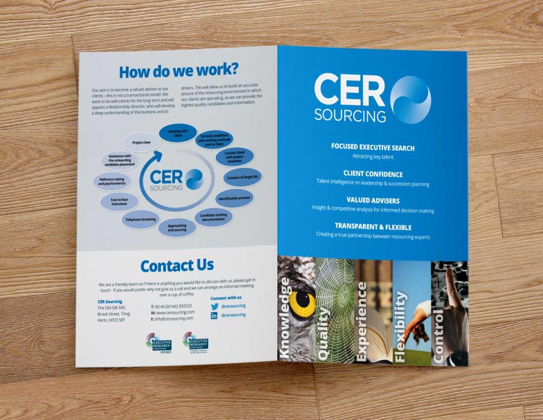 CER Sourcing Mini Brochure Outside