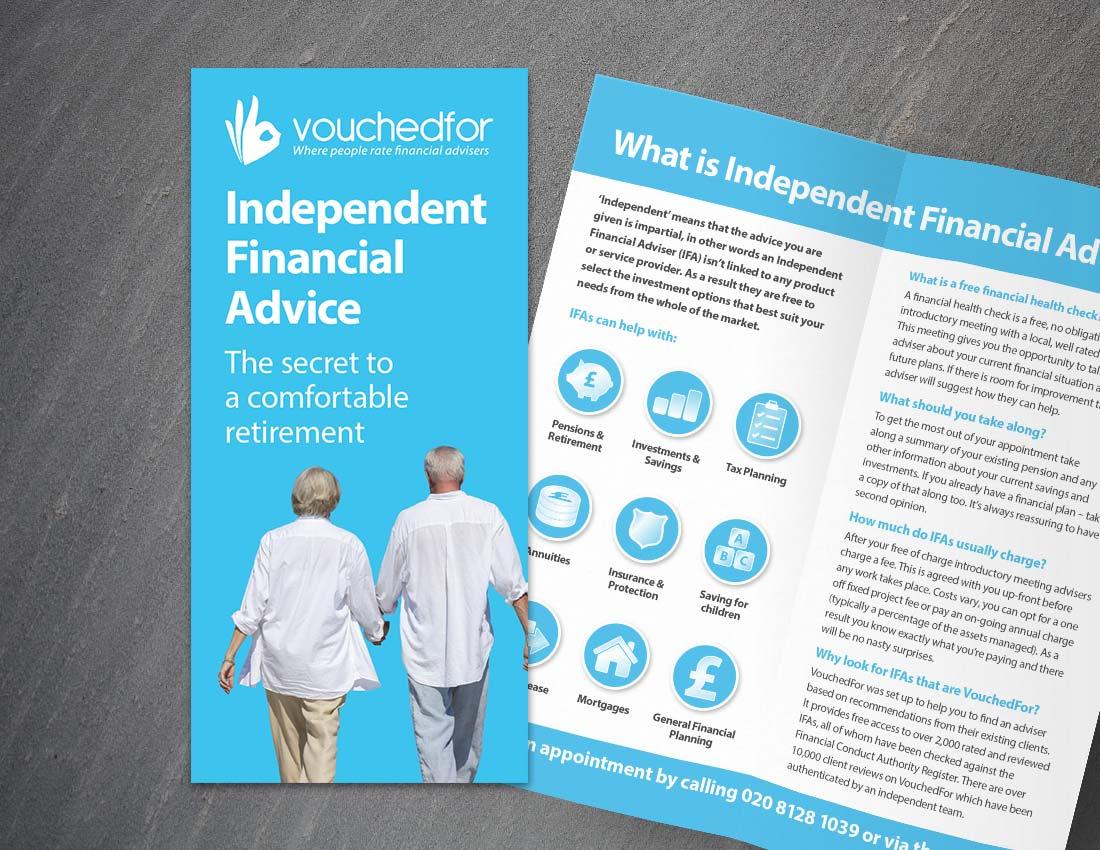 VouchedFor Bi Fold Leaflet